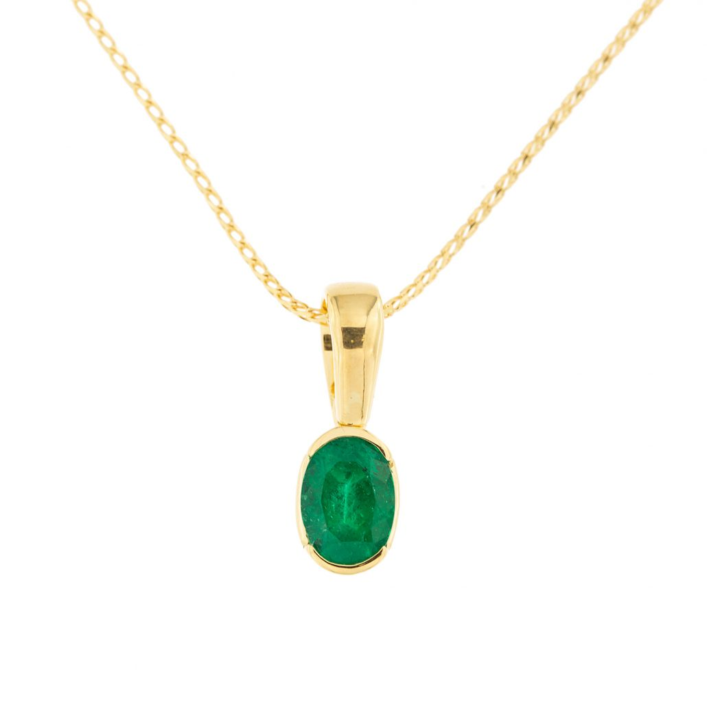 gold emerald pendant white four ps with solid natural products diamonds dsc