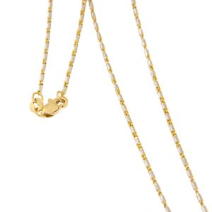 photo of a mixed gold and white gold chain