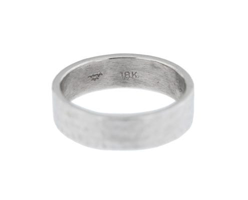 mens white gold handmaid ring by MDG