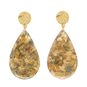 confetti teardrop earrings by evocateur