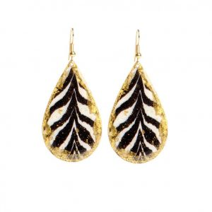 zebra teardrop earrings by evocateur