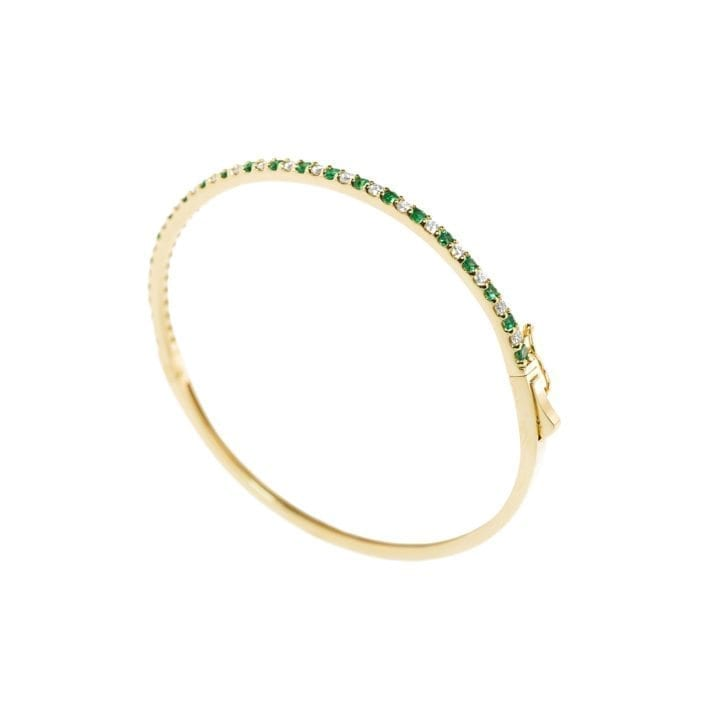 yellow gold bracelet with emeralds