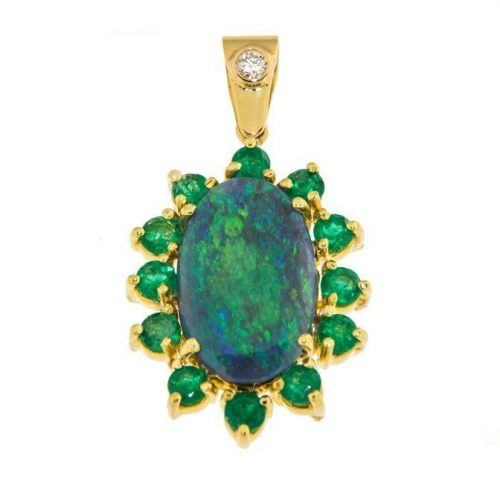 photo of a black opal pendant