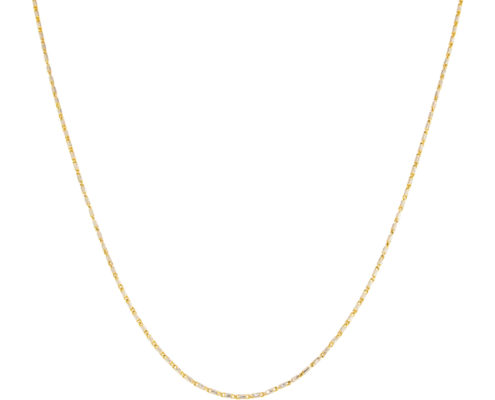photo of a gold necklace