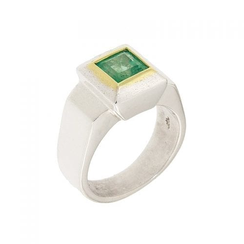 Photo of a Mens Emerald Solitaire Ring