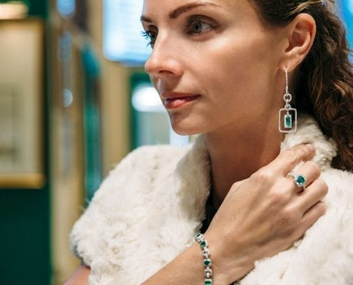 emerald and diamond earrings by marcial de gomar