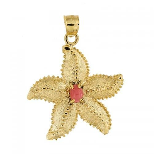 Starfish Pendant With Conch Pearl