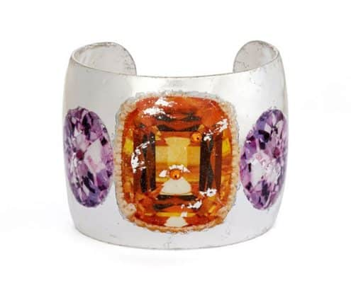 Citrine and Amethyst Cuff - Silver by Evocateur