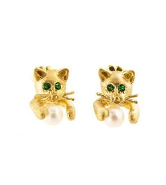 Cat Earrings Front View