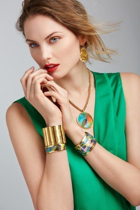 Photo of a model wearing Evocateur Style jewelry.