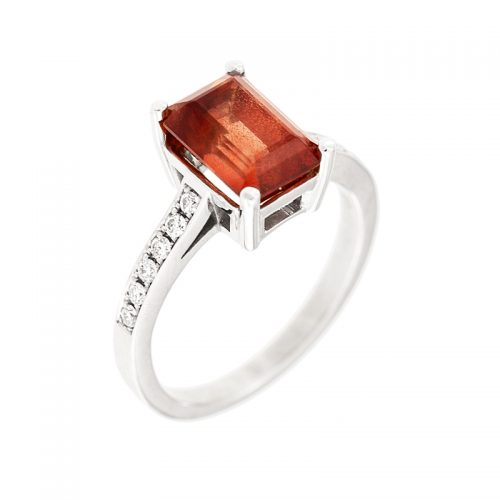 Oregon Sunstone & Diamond Ring