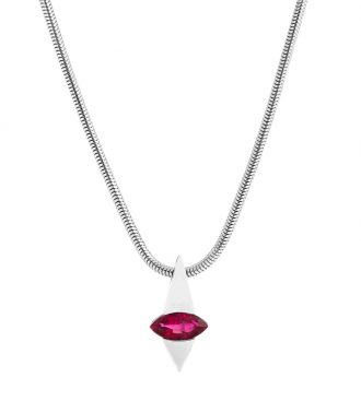 Marquise Red Beryl Pendant