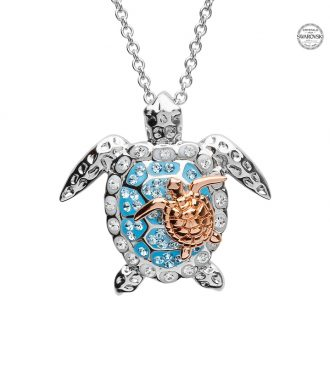Mother & Baby Turtle Pendant