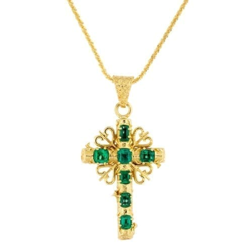 Medium Papal Cross Pendant on a chain.